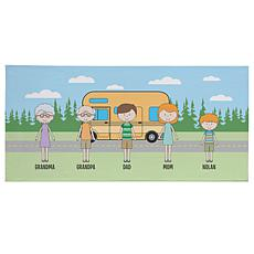 Personalized Family Vacation Beach Towel - Camper
