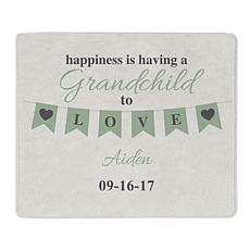 "Personalized ""Grandparents' Love"" 50"" x 60"" Plush Blanket"