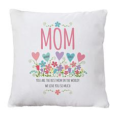 "Personalized ""Heart Garden"" Throw Pillow - 15"" x 15"""