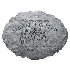 Personalized Memories Bloomed Sympathy Garden Stone