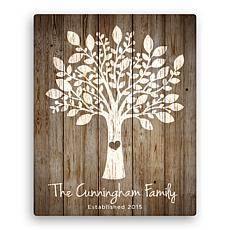 """Personalized Our Family Tree 16"""" x 20"""" Canvas"""