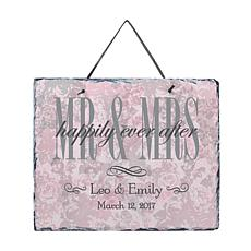 "Personalized ""Roses of Love"" Slate Plaque"