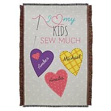 "Personalized ""Sew Much Love"" 36"" x 54"" Throw"