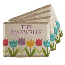 Personalized Spring Tulip Placemats - Set of 4