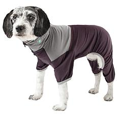 Pet Life Active Embarker Two-Toned Heathered Full Body Dog Warmup Suit