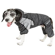 Pet Life Active Fur-Breeze Two-Toned Full Body Dog Warmup Suit