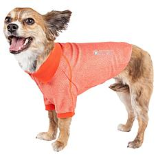 Pet Life Active Fur-Flexed Relax-Stretch Wick-Proof Dog Polo T-shirt