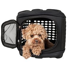 Pet Life Circular Perforated Hard Shell Collapsible Pet Carrier