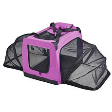 Pet Life Large Soft Folding Collapsible Expandable Pet Dog Crate