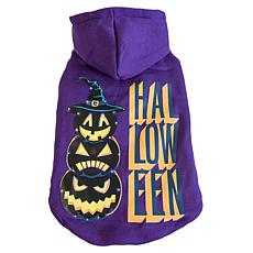 Pet Life LED Light Halloween Happy Snowman Hooded Sweater Pet Costume