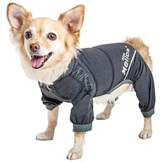 Pet Life LG 4-Way Stretch Breathable Full Body Yoga Dog Track Suit