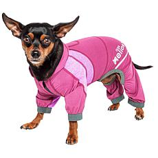 Pet Life MD 4-Way Stretch Breathable Full Body Yoga Dog Track Suit