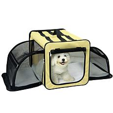 Pet Life Medium Expandable Collapsible Travel Pet Dog Crate