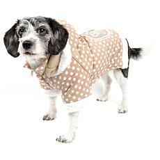 Pet Life Polka Dot Couture Bow Pet Hoodie Sweater