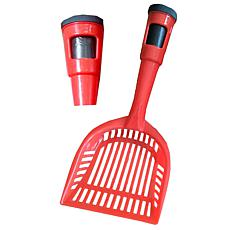 Pet Life Pooper Scooper Litter Shovel With Built-In Waste Bag Holder