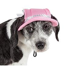 Pet Life Sea Spot Sun Adjustable Mesh Brimmed Dog Hat - Large