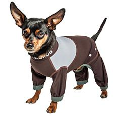 Pet Life XL 4-Way-Stretch Breathable Full Body Dog Track Suit