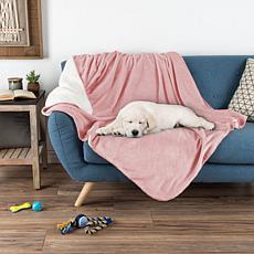"""Pet Pal Waterproof Reversible Pet Blanket 50""""x 60"""" - Pink"""