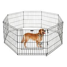 "Pet Trex 24"" Black Playpen for Pets"