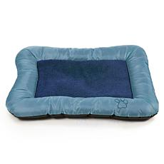 "PETMAKER 24"" x 19"" Plush and Cozy Pet Bed - Blue"