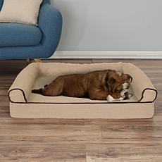 "PETMAKER Orthopedic Micro-suede Covered Pet Sofa Dog Bed-35-1/2"" x 24"""