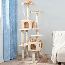PETMAKER Skyscraper Sleep and Play Cat Tree - Beige