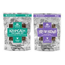 Phelps Wellness Collection  Keep Calm & Canine On and Hip, Hip, Hoo...