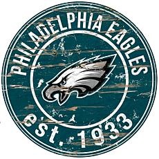 Philadelphia Eagles Round Distressed Sign