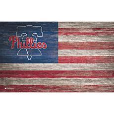 Philadelphia Phillies Distressed Flag 11x19