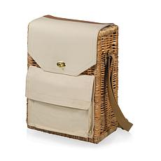 Picnic Time Corsica Wine Basket - Beige Canvas