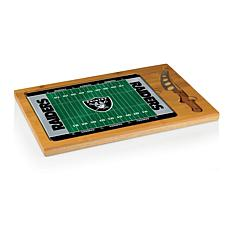 Picnic Time Glass Top Cutting Board - Oakland Raiders