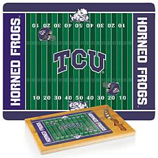 Picnic Time Glass Top Cutting Set-Texas Christian Un.