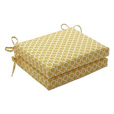 Pillow Perfect 2 Squared Corner Outdoor Seat Cushions
