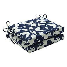 Pillow Perfect Bosco Square Seat Cushions - Navy
