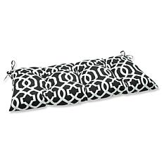 Pillow Perfect Geo Wrought Iron Loveseat Cushion - Blac