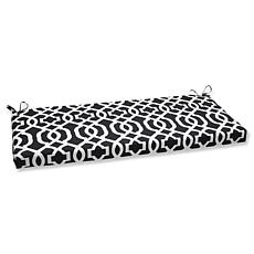Pillow Perfect Outdoor New Geo Bench Cushion - Black/Wh