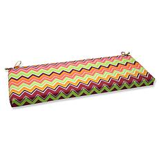 Pillow Perfect Outdoor Zig Zag Bench Cushion - Raspberr