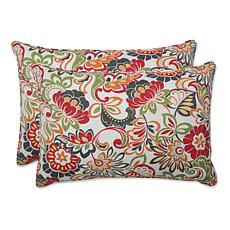 Pillow Perfect Set of 2 Outdoor Zoe Oversized Rectangul