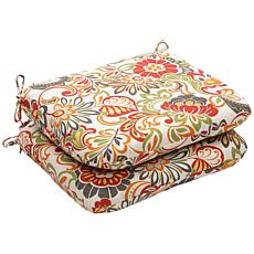 Pillow Perfect Set of 2 Outdoor Zoe Rounded Corners Sea