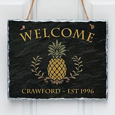Pineapple Welcome Personalized Wall Slate