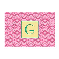 Pink Ikat Personalized Doormat