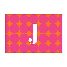 Pink Polka Dots Personalized Doormat