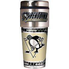 Pittsburgh Penguins Travel Tumbler w/ Metallic Graphics and Team Logo
