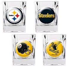 Pittsburgh Steelers 4pc Collector's Shot Glass Set