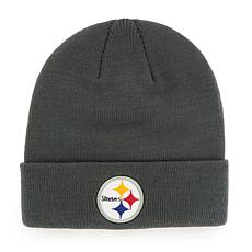 Pittsburgh Steelers NFL Gray Cuff Knit Beanie