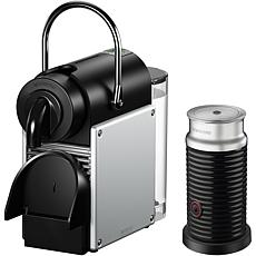 Pixie Single-Serve Espresso Machine & Aeroccino Milk Frother- Aluminum