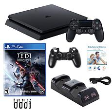 Playstation 4 1TB Core Console with StarWars, Voucher and Accessories