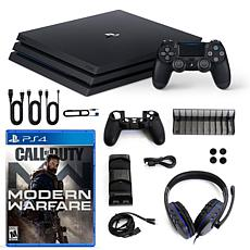 PlayStation 4 Pro 1TB Console with Modern Warfare and Accessories Kit