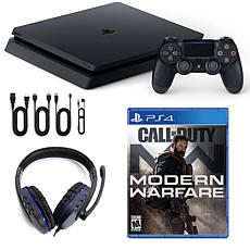 PlayStation 4 Slim 1TB Console with Call of Duty Modern Warfare and...