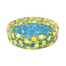 PoolCandy Inflatable Sunning Pool Lemon Print